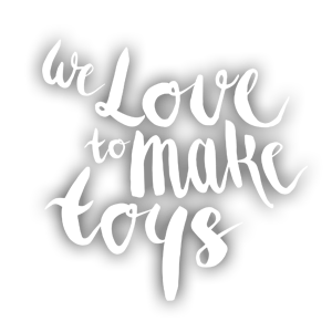 we love to make toys (white)