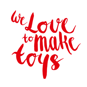we love to make toys ( Rot )